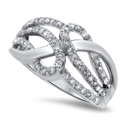 Curving Diamond Fashion Ring