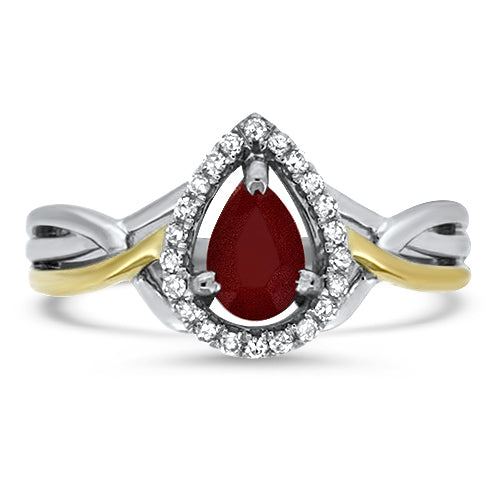 Two-Tone Ruby Ring