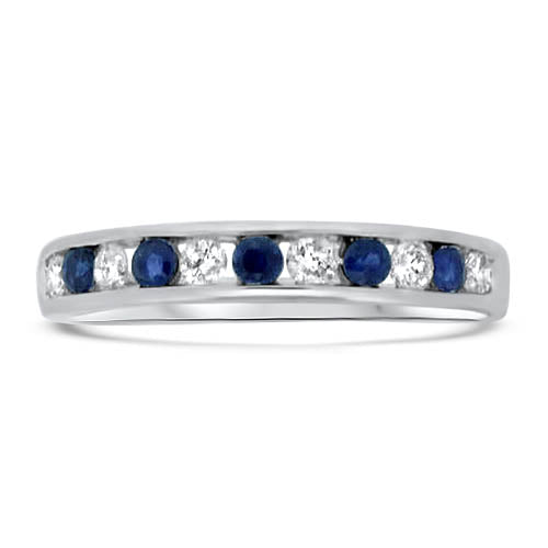Sapphire and Diamond Stacker Band