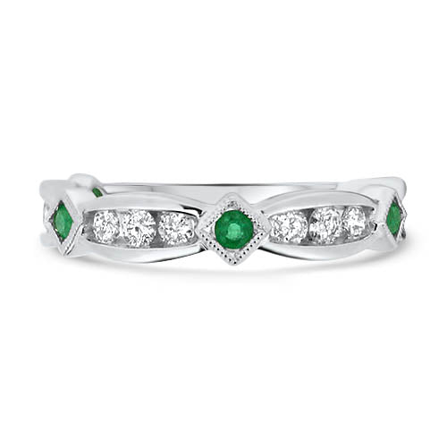 Emerald and Diamond Stacker Band