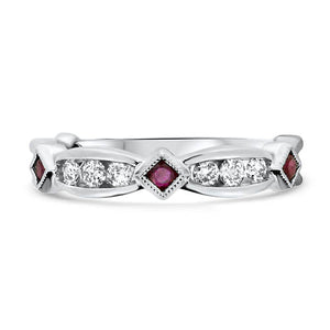 Ruby and Diamond Stacker Ring
