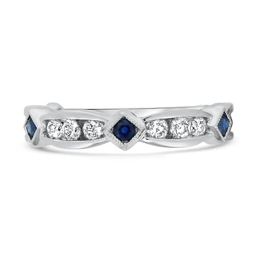 Sapphire and Diamond Stacker Ring
