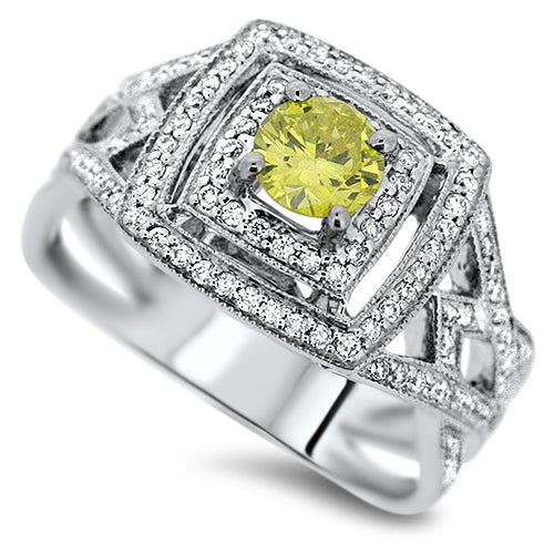 Yellow & Diamond Ring