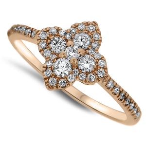 Rose Gold Fashion Diamond Ring