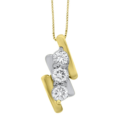 Two Tone Diamond Pendant