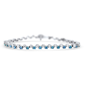 Blue Diamond Bracelet