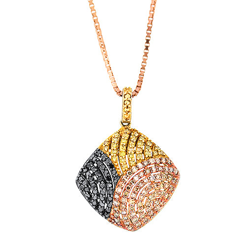 Color Diamond Pendant