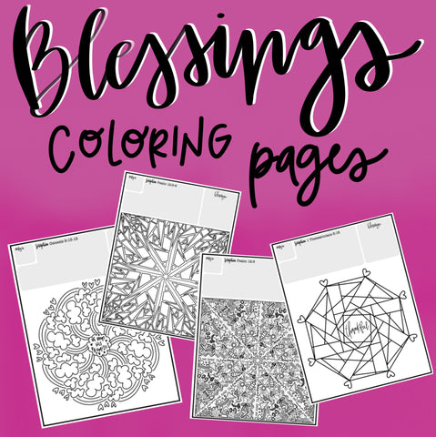 Blessings Coloring Pages