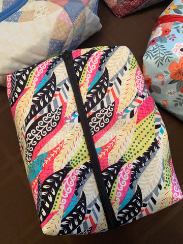 Feather Zipper Bag