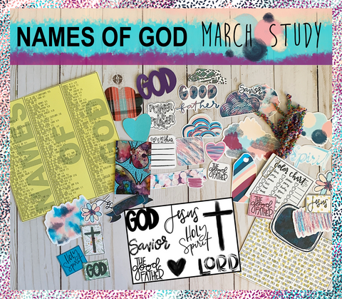 """Names of God"" March Study PHYSICAL Kit"