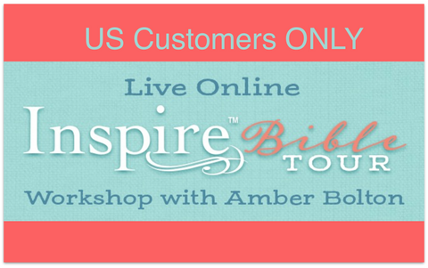Inspire Bible TOUR--ONLINE Workshop August 29th (US Customers ONLY)