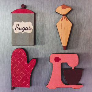 Baking Magnet Set | Fun Magnets For Office | Fun Magnets For Refrigerator