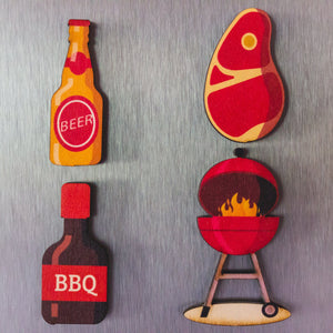 BBQ Magnet Set | Grilling Magnets