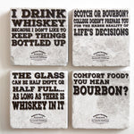 Bourbon and Whiskey Coaster Set (set of 4) | Whiskey Gift