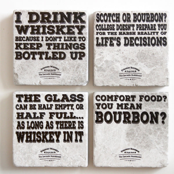 Bourbon Coasters Whiskey Coasters Bar Coasters