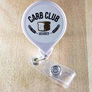 Carb Club Member Retractable Badge Holder Reel | Dietitian Badge Holder | Future Dietitian Badge Reel