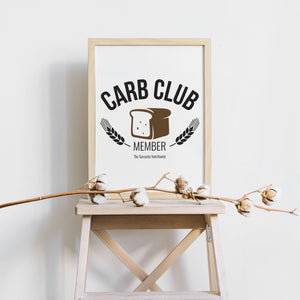 Carb Club Member Digital Download | Food Prints | Food Art
