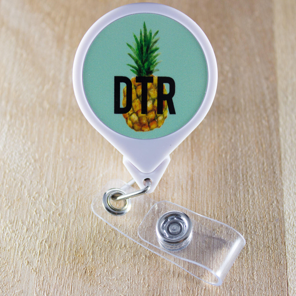 DTR Pineapple Retractable Badge Holder Reel | DTR Badge Holder