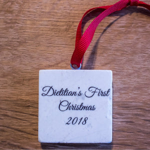 2019/2018 Dietitians First Christmas Ornament | Dietitian Gift