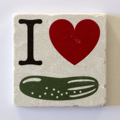 I Heart Pickles Coaster | Pickles Gift