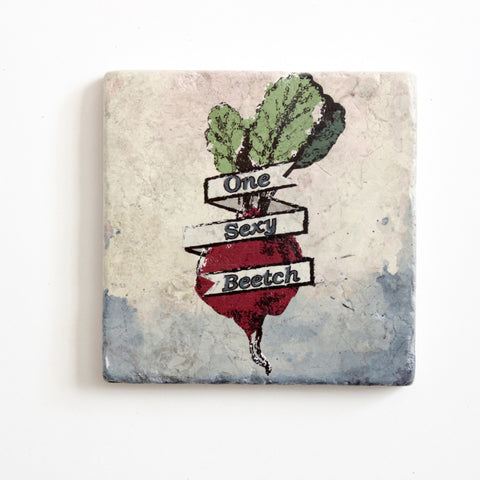 One Sexy Beetch Coaster | Beet Coaster | Funny Gift