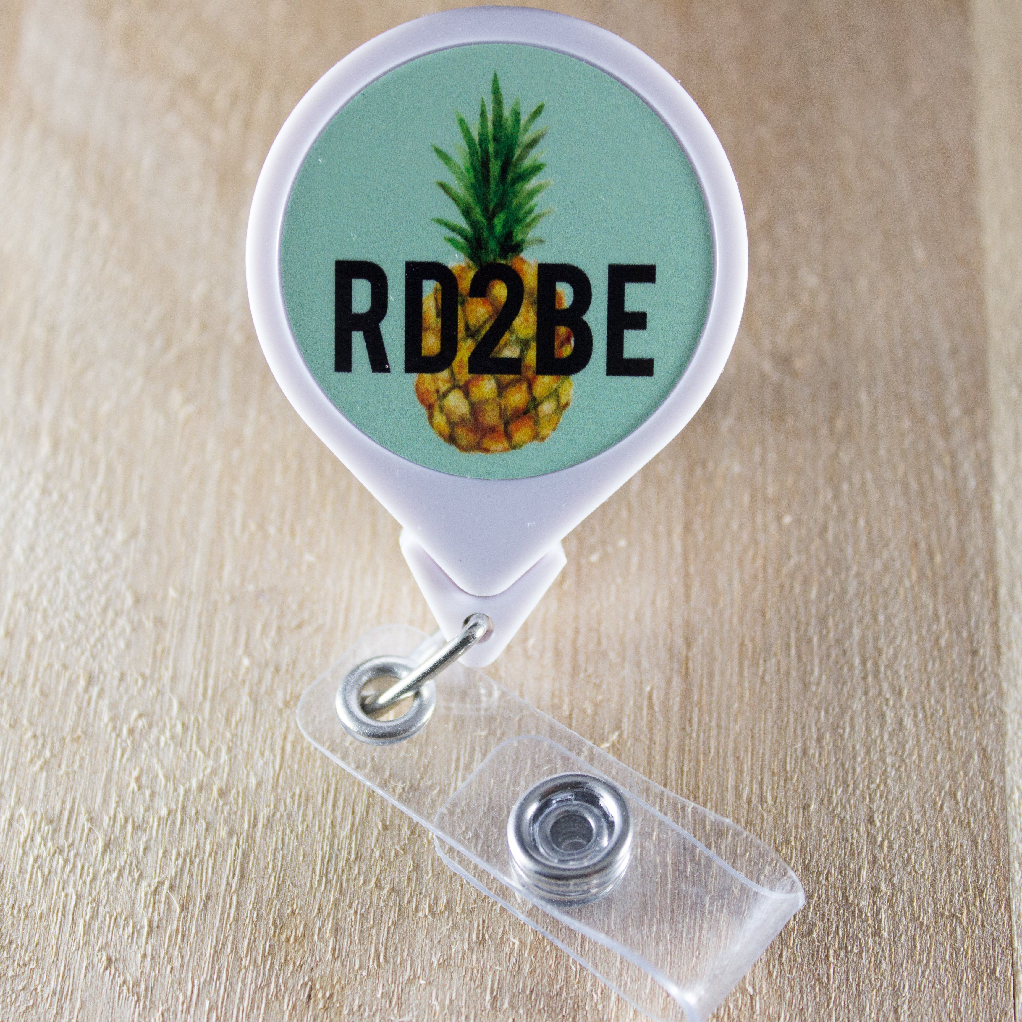 RD2BE Pineapple Retractable Badge Holder Reel | Dietitian Student Gift