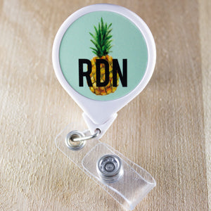 RDN Pineapple Retractable Badge Holder Reel | Dietitian Badge Reel