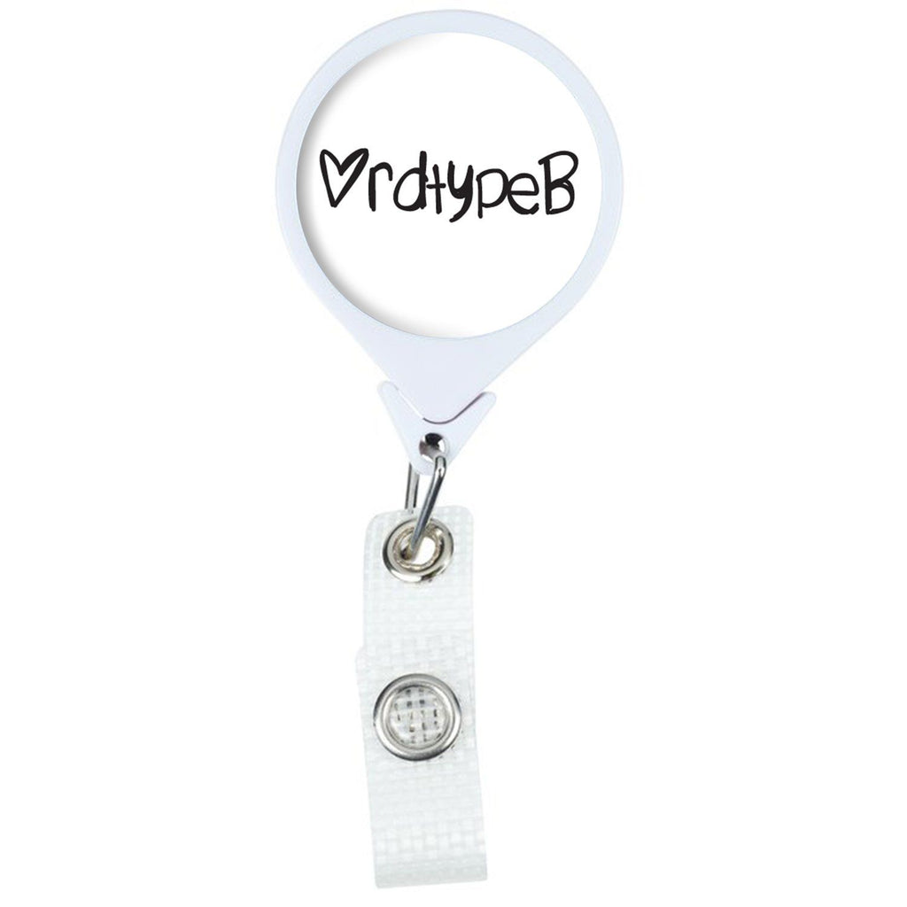 RDTypeB Retractable Badge Holder Reel | RDN Badge Reel | Registered Dietitian Badge Reel