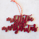 Mistletoe And Margaritas Tree Ornament | Margarita Christmas Ornament