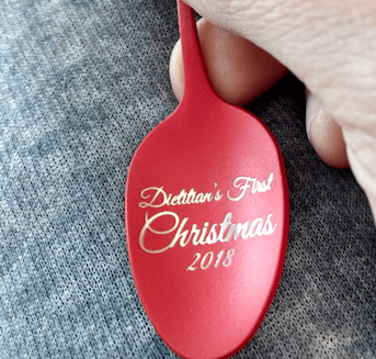 Dietitian's First Christmas |Choose Your Year | Spoon Ornament | Dietitian Gift