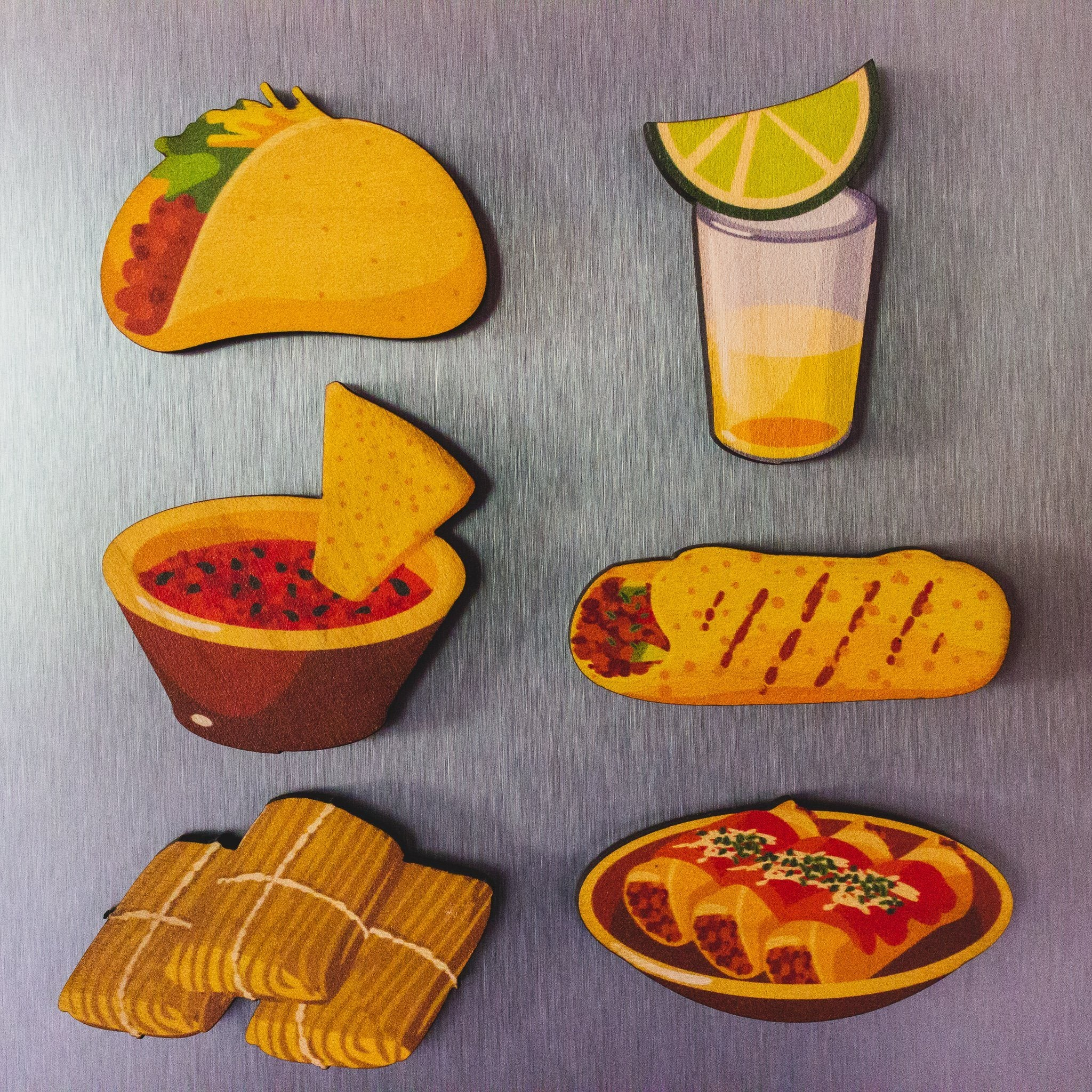 Mexican Food Magnet Set | Taco Magnet | Food Magnets