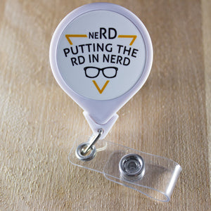 Putting The RD in neRD Retractable Badge Holder Reel | Dietitian Badge Reel
