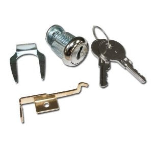HON Lock Cylinder Kit for Vertical Files | Chrome| Key Specified|F24.217E