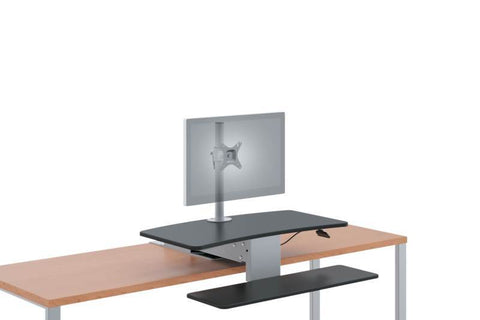 HON Desktop Riser/Sit-to-Stand | Single Monitor Arm