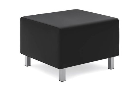 HON Modular Lounge Ottoman | Black SofThread Leather