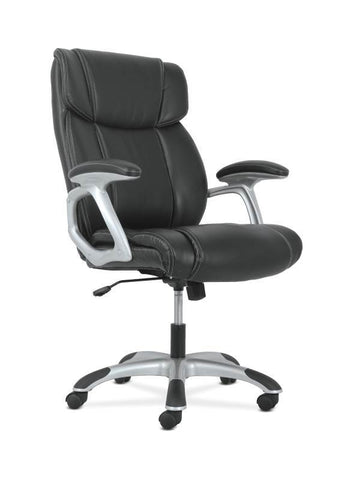 Sadie High-Back Executive Chair | Black Leather