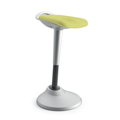 HON Perch | 360-Degree Swivel | Silver Base | Green Fabric