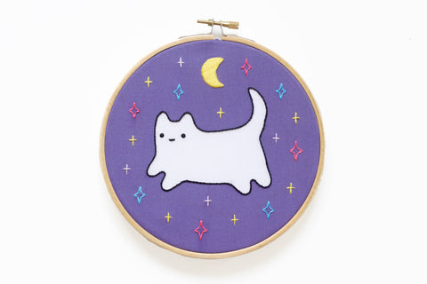 Cosmic Baby Cat - Hoop Art Kit - Limited Edition Sparkle Collective Collaboration