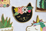 Floral Cat - Magnetic Needleminder (enamel)