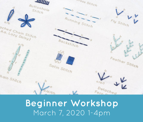 Workshop: Beginner Stitch Sampler (Toronto - March 7, 2020 1-4pm)