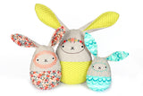 Easter Egg Bunnies & Overalls PDF Bundle