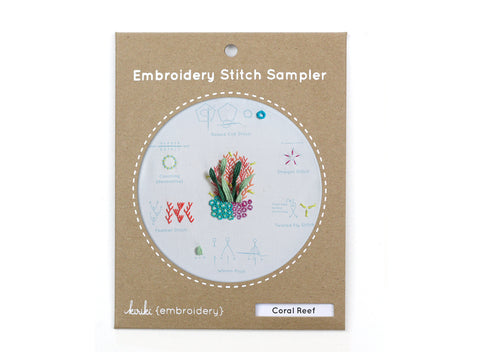 Coral Reef - Embroidery Stitch Sampler