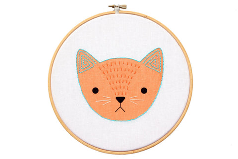 Kitten - Hoop Art Kit