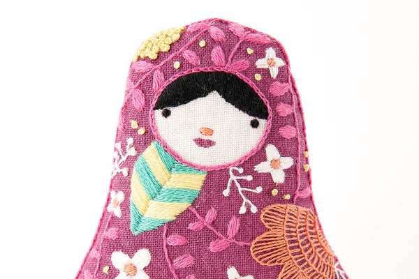 Matryoshka embroidery kit kiriki press