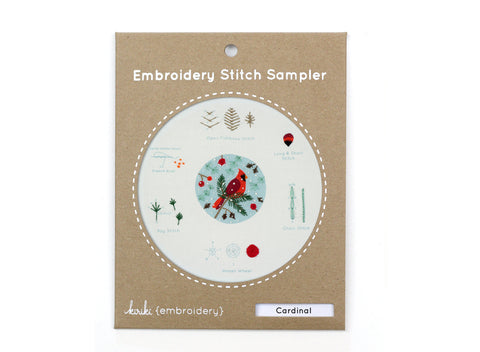 Cardinal - Embroidery Stitch Sampler