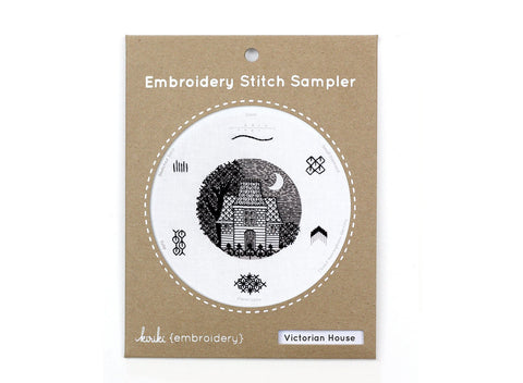 Victorian House - Embroidery Stitch Sampler