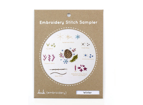 Winter - Embroidery Stitch Sampler