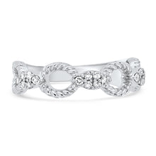Load image into Gallery viewer, White Gold Diamond Stacker Band