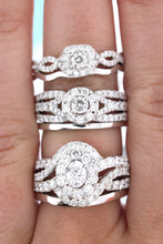 Load image into Gallery viewer, White Gold Diamond Wedding Set