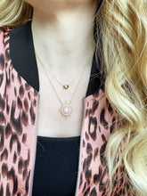 Load image into Gallery viewer, Pink Opal Sun Necklace